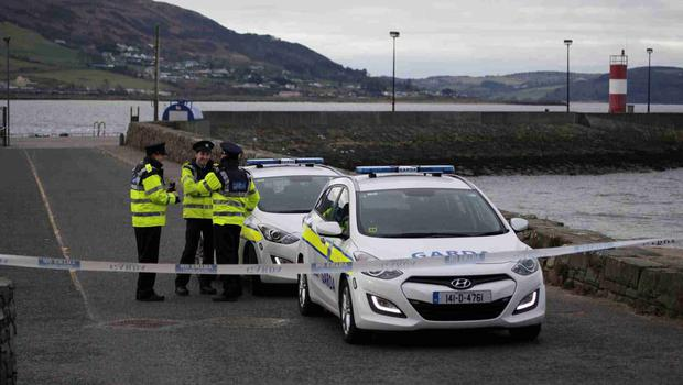 Francis Crawford Who raised the alarm,  at the Scene at the Pier in Buncrana Co Donegal, after Five people, including children, have died after a car went off a pier. Picture Joe Bolan / Press Eye