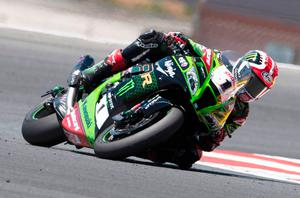 Leading man: Jonathan Rea in Portimao yesterday