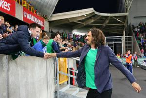 Picture - Kevin Scott / Press Eye  Gary Lightbody  Belfast - Northern Ireland - 8th October 2016 - The National Football Stadium at Windsor Park Opening Game and Ceremony Northern Ireland vs San Marino 2018 FIFA World Cup Qualifier  Photo by Kevin Scott  / Press Eye