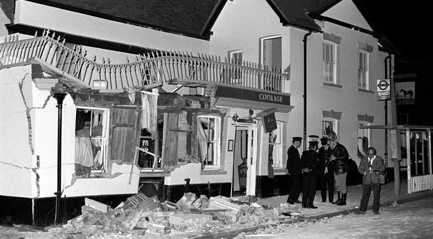 Four people were killed and more than 50 injured in an IRA bomb attack on the Horse and Groom pub in Guildford in 1974 (PA)