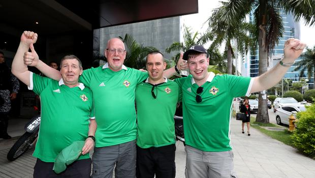 Press Eye - Belfast -  Northern Ireland - 29th May 2018 - Photo by William Cherry/Presseye  Northern Ireland fans before Wednesday nights International Friendly against Panama at the Estadio Rommel Fernandez, Panama City.