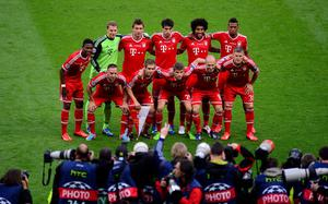 Bayern Munich team group prior to kick-off during the UEFA Champions League Final at Wembley Stadium, London. PRESS ASSOCIATION Photo. Picture date: Saturday May 25, 2013.