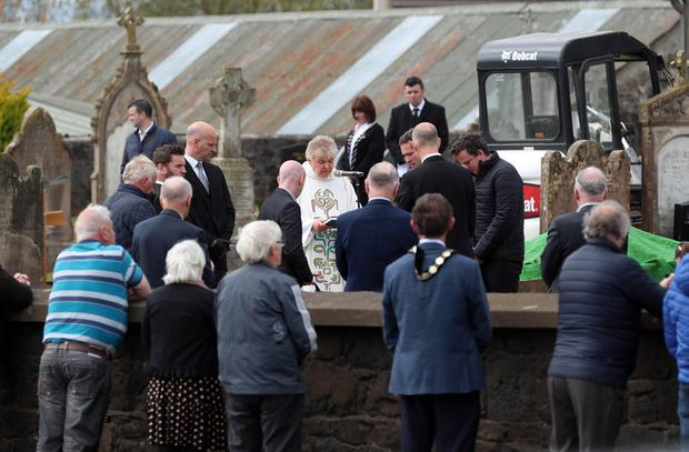 PACEMAKER,BELFAST,7/5/2020: The funeral of former SDLP MLA John Dallat takes place in the church graveyard of St Mary's church outside Kilrea in Co. Derry. PICTURE BY STEPHEN DAVISON