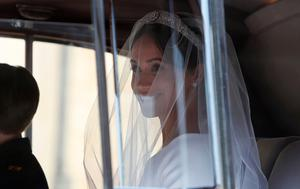 US actress Meghan Markle arrives for the wedding ceremony to marry Britain's Prince Harry, Duke of Sussex, at St George's Chapel, Windsor Castle, in Windsor, on May 19, 2018. / AFP PHOTO / POOL / Alastair GrantALASTAIR GRANT/AFP/Getty Images