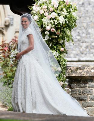 The Duchess of Cambridge's sister Pippa Middleton arrives at St Mark's church in Englefield, Berkshire, for her wedding to her millionaire groom James Matthews at an event dubbed the society wedding of the year. PRESS ASSOCIATION Photo. Picture date: Saturday May 20, 2017. See PA story ROYAL Pippa. Photo credit should read: Kirsty Wigglesworth/PA Wire