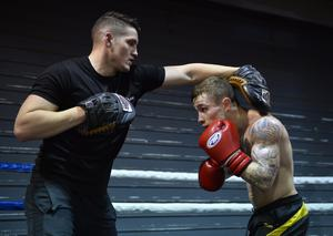 Carl Frampton is put through his paces by trainer Shane McGuigan