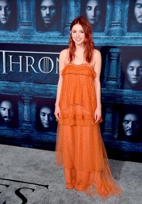 """HOLLYWOOD, CALIFORNIA - APRIL 10:  Actress Hannah Murray attends the premiere of HBO's """"Game Of Thrones"""" Season 6 at TCL Chinese Theatre on April 10, 2016 in Hollywood, California.  (Photo by Alberto E. Rodriguez/Getty Images)"""