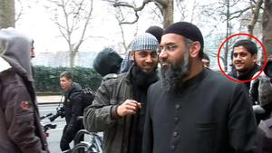 Abu Rumaysah (ringed right), formerly known as Siddhartha Dhar. PA Video/PA Wire
