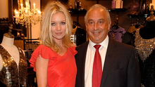 Model Kate Moss and Arcadia owner Sir Philip Green