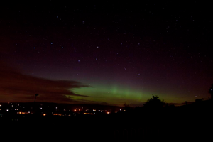 Aurora Borealis and the Plough from Slemish. By Andy Irwin