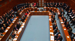 MLAs sitting in the Northern Ireland Assembly in 2006