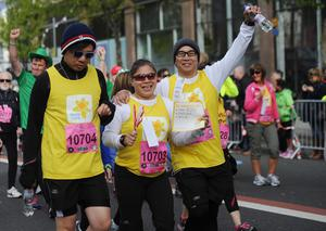 PACEMAKER BELFAST   04/05/2015 Walkers   during the Belfast Marathon 2015 takes place on Bank Holiday monday. Photo Colm Lenaghan/Pacemaker