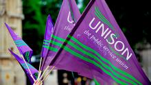 Members of the Unison union will today commence action over unsafe staffing levels and the lack of pay parity with NHS workers in Great Britain. Photo: Nick Ansell/PA