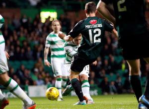 Celtic's Kris Commons scores his side's first goal of the game during the third round of the Scottish Communities League Cup at Celtic Park, Glasgow. PRESS ASSOCIATION Photo. Picture date: Wednesday September 23, 2015. See PA story SOCCER Celtic. Photo credit should read: Danny Lawson/PA Wire. EDITORIAL USE ONLY