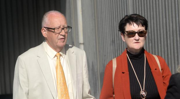 Patrick and Geraldine Kriegel, the parents of murdered Ana Kriegel, at the Criminal Courts of Justice in Dublin.
