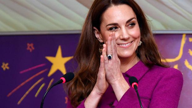 The Duchess of Cambridge delivering her speech to officially open The Nook (Toby Melville/PA)