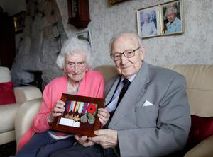 Battle honours: Robert Porter and wife Betty with his Second World War medals