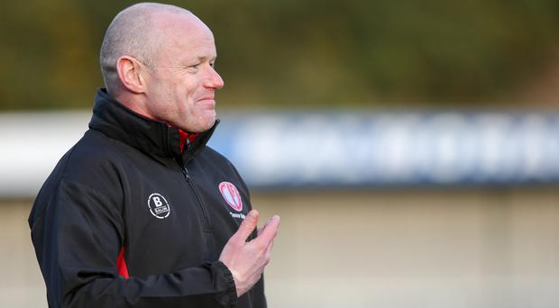 Dungannon Swifts have parted company with coach Peter Kennedy (Philip Magowan / PressEye)