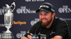 Shane Lowry has plans for the Claret Jug.