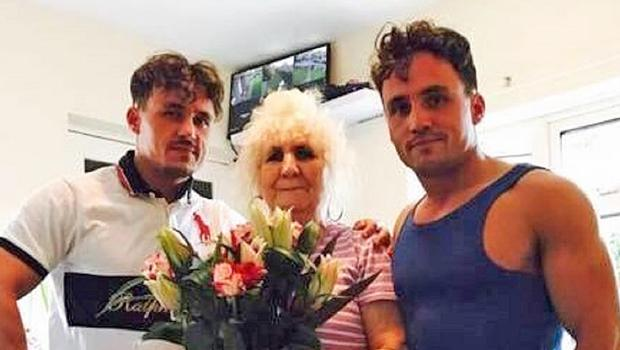 Billy Smith and Joe Smith with their grandmother (Family handout/PA)