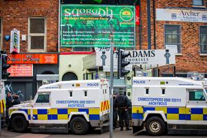 The PSNI last night raided the west Belfast offices of a new dissident republican party