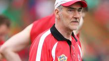 Tyrone manager Mickey Harte pictured after the game