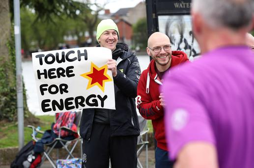 Press Eye - Belfast - Northern Ireland - 5th May 2019 - Runners pictured at the Waterworks in north Belfast during the Deep RiverRock Belfast City Marathon at the Stormont Estate, Belfast. Photo by Kelvin Boyes / Press Eye.