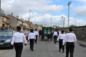 Peggy O'Hara mother to INLA Hunger Striker Patsy O'Hara funeral taking place in Derry