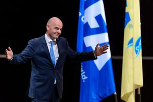 New FIFA president Gianni Infantino reacts after winning the FIFA presidential election during the extraordinary FIFA Congress in Zurich on February 26, 2016. AFP PHOTO / FABRICE COFFRINI / AFP / FABRICE COFFRINIFABRICE COFFRINI/AFP/Getty Images