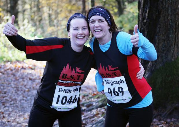 Mandatory Credit - Picture by Freddie Parkinson/Press Eye © Saturday 19th November 2016 Belfast Telegraph Run Forest Run Drum Manor Forest Park, Drum Road, Cookstown BT80 9RT Paula Mulholland and Paula Latewood-kidney from Dungannon