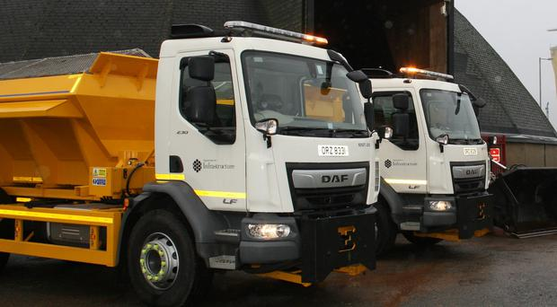 A gritter vehicle was attacked on Aileach Road