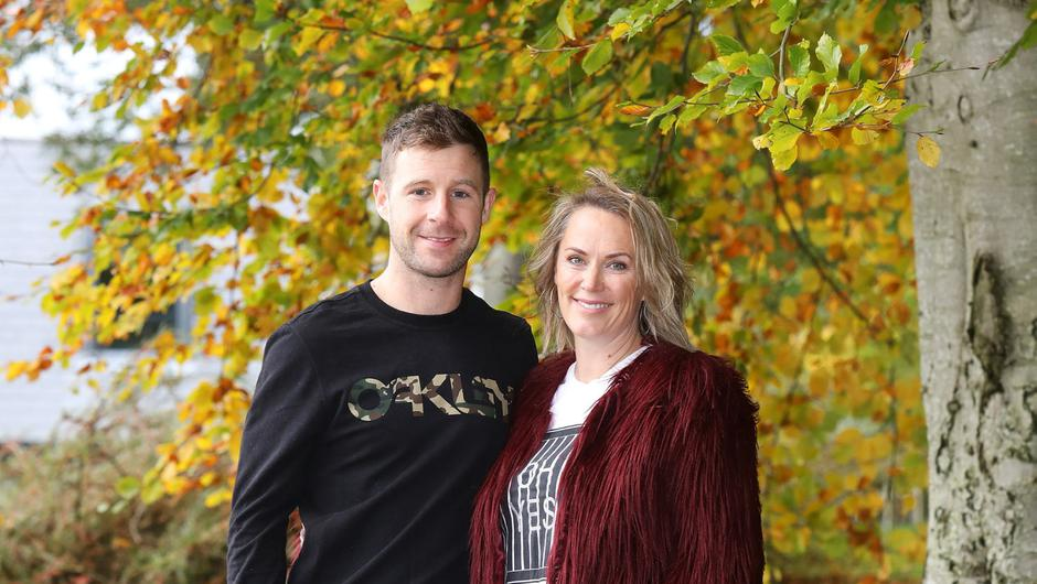 Six times World Superbike champion Jonathan Rea back home in County Antrim with wife Tatia.  Photo by Peter Morrison