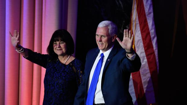 US Republican Vice President elect Mike Pence and his wife Carol arrive at the New York Hilton Midtown in New York on November 8, 2016.  Donald Trump stunned America and the world Wednesday, riding a wave of populist resentment to defeat Hillary Clinton in the race to become the 45th president of the United States. / AFP PHOTO / SAUL LOEBSAUL LOEB/AFP/Getty Images