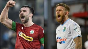 Cliftonville's Jamie Harney and Ballymena United's Steven McCullough are due to sit out the Irish Cup semi-finals.