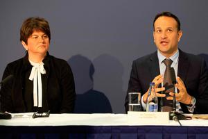 Taoiseach Leo Varadkar and Northern Ireland's First Minister Arlene Foster.
