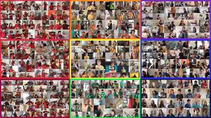 Composite picture of the Virtual Youth Orchestra (University Hospital Southampton/PA)
