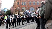 Protest takes place in Belfast city centre on Saturday afternoon.
