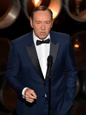 HOLLYWOOD, CA - MARCH 02:  Actor Kevin Spacey speaks onstage during the Oscars at the Dolby Theatre on March 2, 2014 in Hollywood, California.  (Photo by Kevin Winter/Getty Images)