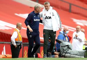 David Moyes (left) and Manchester United manager Ole Gunnar Solskjaer (Martin Rickett/PA)