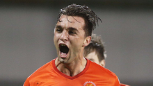 Final blow: Dungannon's Chris Hegarty nets the equaliser