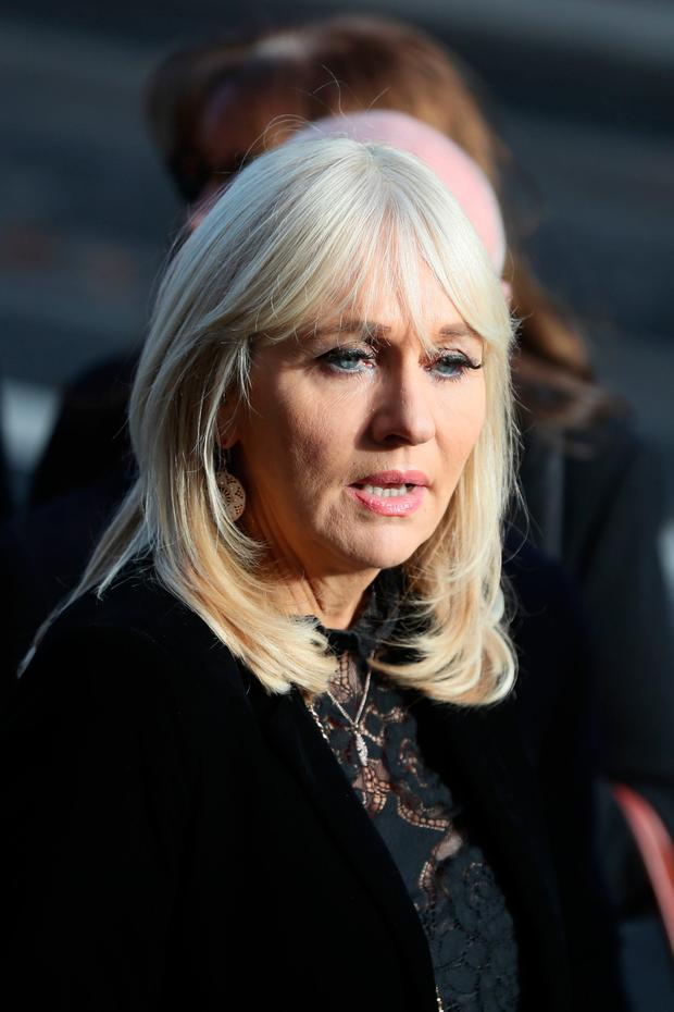 RTE broadcaster Miriam O'Callaghan arrives for the funeral of the celebrated broadcaster Gay Byrne at St. Mary's Pro-Cathedral in Dublin. PA Photo.