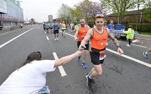 7th May 2018 37th Deep RiverRock Belfast City Marathon   Runners pictured at the marathon  Mandatory Credit ©Presseye/Stephen Hamilton