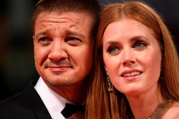 VENICE, ITALY - SEPTEMBER 01:  Jeremy Renner and Amy Adams attend the premiere of 'Arrival' during the 73rd Venice Film Festival at Sala Grande on September 1, 2016 in Venice, Italy.  (Photo by Ian Gavan/Getty Images)