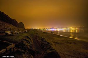 Ballycastle beach at midnight. By Eoin McConnnell