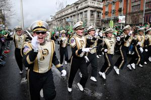 Performers during the St Patrick's day parade through Dublin city centre on St Patrick's day. PRESS ASSOCIATION Photo. Picture date: Sunday March 17, 2013. Photo credit should read: Julien Behal/PA Wire