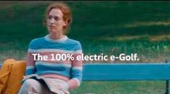 The banned Volkswagen's television advertisement for its e-Golf electric car