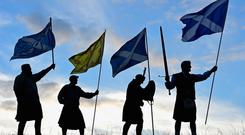 Duncan Thomson, Brian McCutcheon, John Patterson and Arthur Murdoch,from King of Scots Robert the Bruce Society