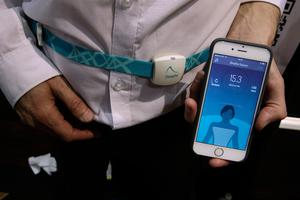 LAS VEGAS, NV - JANUARY 03:  2breathe Sleep Inducer, a device helps people to sleep via guiding tones composed from the userÕs breathing prolong exhalation to reduce neural sympathetic activity, is seen during a press event for CES 2017 at the Mandalay Bay Convention Center on January 3, 2017 in Las Vegas, Nevada. CES, the world's largest annual consumer technology trade show, runs from January 5-8 and is expected to feature 3,800 exhibitors showing off their latest products and services to more than 165,000 attendees.  (Photo by Alex Wong/Getty Images)