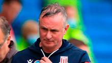 Hands up: Michael O'Neill admitted Stoke were miles off