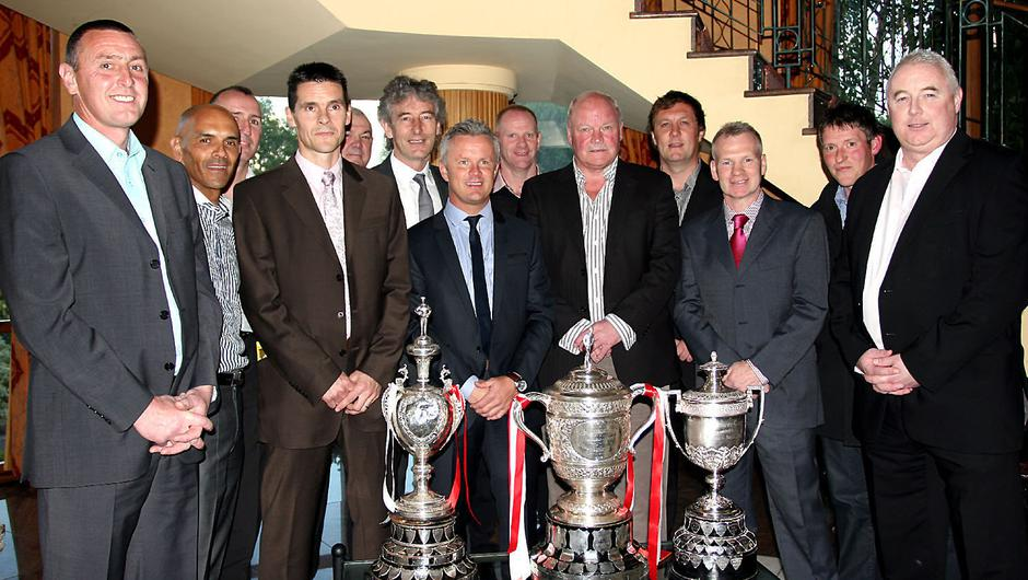 Fond memories: Members of the Ports' 1990-91 double-winning side reunite